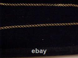 MINT 14k Yellow Gold HARD TO FIND STURDAY 18 Rolo Link 1.5mm Chain