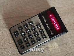 Mint Vintage 1974 Canon Palmtronic LE-100 RED LED calculator likenew hard t find