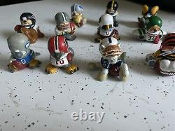 NFL 1983 Vintage Huddles PVC Figure Mascots Lot Of 13 Hard To Find Rare