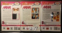 Nana Manga English Set Lot 1-5 Shojo Beat Rare and Very Hard To Find Ai Yazawa