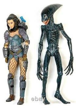 Neca Predator + Alien 18 Loose Figure Lot, Includes Hard-to-finds