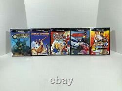 Nintendo Gamecube Games Lot of 50 Includes Hard to Find Titles with Accessories