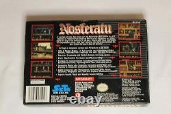 Nosferatu CIB + Poster Near Mint Complete in Box Authentic Hard to Find SNES