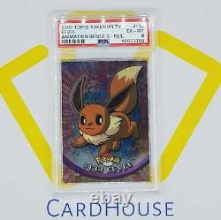 PSA 6 EX MINT Eevee Topps Series 3 Hard to find 2000 Pokemon Holo Foil