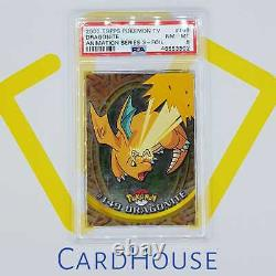PSA 8 NM MINT Dragonite Topps Series 3 Hard to find 2000 Pokemon Holo Foil