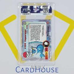 PSA 8 NM MINT Vaporeon Topps Series 3 Hard to find 2000 Pokemon Holo Foil
