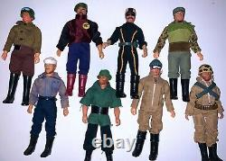 Paco Magnificent Team Lot, 8 Figures 1980 hard to find GI Joe Mego AHI Tomland