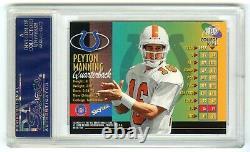Peyton Manninghard-to-find 1998 Metal Universe Psa-9 (mint) Rookie Rc Card #189