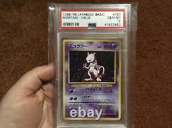 Pokemon Japanese Base Set Gem Mint Holo Mewtwo PSA 10 Hard To Find Vintage