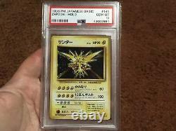 Pokemon Japanese Base Set Gem Mint Holo Zapdos PSA 10 Hard To Find Vintage