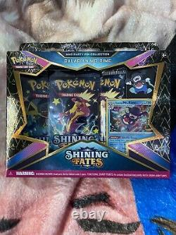 Pokemon TCG Shining Fates Party Pin Collections Box Lot of 4 Hard To Find