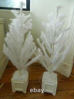 RARE & Hard-To-Find LOT of 2 Martha Stewart Feather trees with Ornaments! Nice