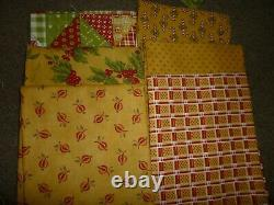 Rare Hard To Find Minnick And Simpson Christmas Past Fabric Bundle Brand New
