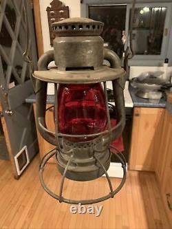 Rare Vintage Dietz Vesta High Hat With CNX U. S. Red Globe Hard To Find Mint