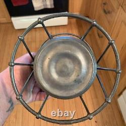 Rare Vintage Dietz Vesta High Hat With M-1 USA Blue Globe Hard To Find Mint