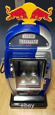 Red Bull Mini Gas Pump Fridge LED Mint Condition Rare Hard To Find NWOB