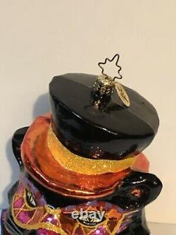 Retired Christopher Radko Rare Halloween Black Cat MINT Condition Hard To Find