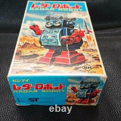 SH Radar Robot Spring Type Plastic Made in Japan hard to find near mint
