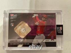 SHOHEI OHTANI RC GU Relic 2018 Topps Now 1st Multi-HR 1/25 Hard To Find 1/25