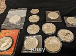 Silver coin lot, hard to find / 14oz / Perth Brumby / Perth Quokka / and more