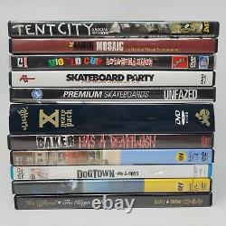 Skateboarding Dvd Lot Hard To Find Habitat Mosaic Cliche Kayo Tent City and More