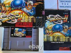 Sonic Blast Man 2 SNES CIB RARE Game MINT Cartridge Hard To Find Taito