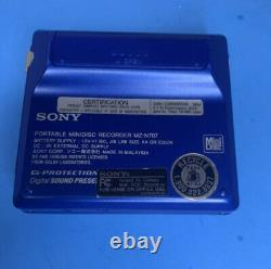 Sony MZ-N707 Net MD Walkman Player/Recorder (Blue) MINT RARE EXTRAS HARD TO FIND