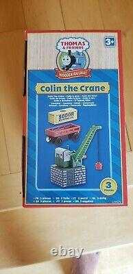 Thomas Wooden Railway Colin The Crane Absolutely Mint 2009 Hard To Find