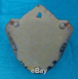 Vintage Hard To Find Roseville Pottery Tan Earlam Wall Pocket 1263-6 Near Mint