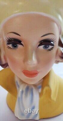 Vintage Hard-to-Find-CAFFCOYellow Beret GirlNear MintLG Head Vase-Headvase