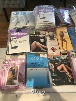 Vintage Panty Hose Assorted Styles Lot Of 155 New And Sealed Rare Hard To Find
