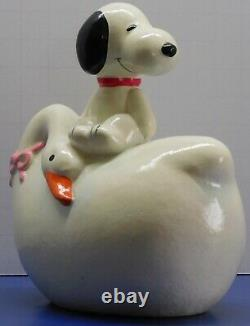 Vintage Peanuts Snoopy Swan Bank With Stopper Hard To Find near Mint