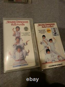 Young Dragons The Kung-Fu Kids 1 & 2 VHS Lot Hard to find and Out Of Print