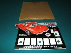 Zippo Corvette Counter Display Discontinued Mint Orig Box Nos Hard To Find
